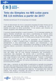 Teto do Simples no MS sobe para R$ 3,6 milhões a partir de 2017